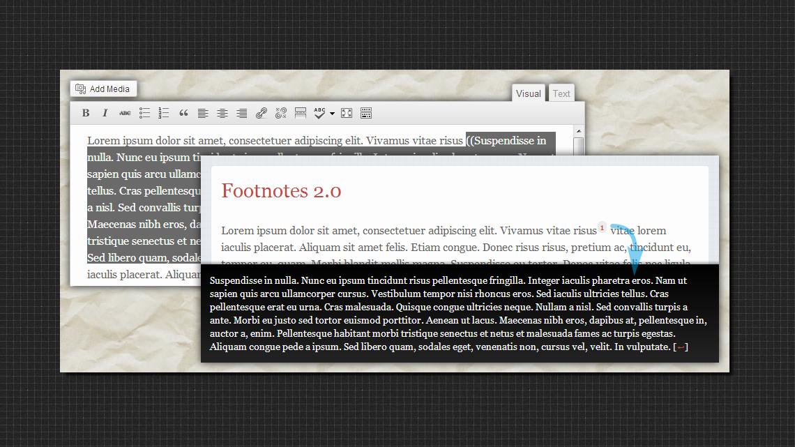 WordPress Footnotes Plugin