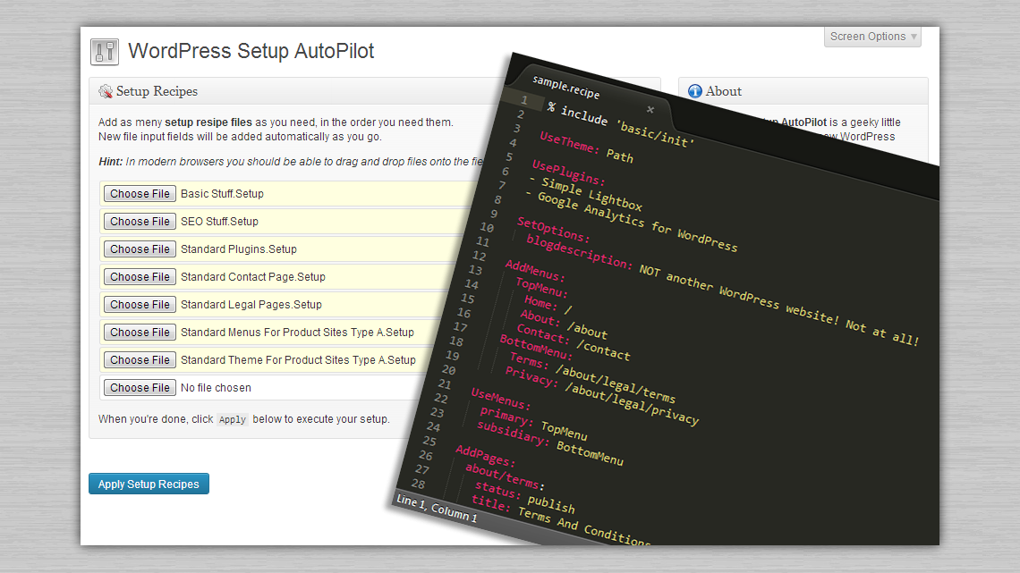WordPress Setup Autopilot Plugin
